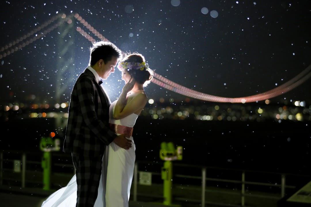 明石海峡大橋に祝福されて