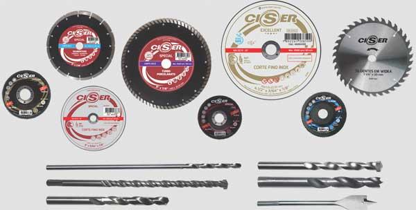 Ciser lança linha de discos e brocas