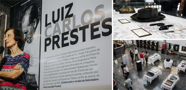 Anita Prestes inaugura exposição histórica