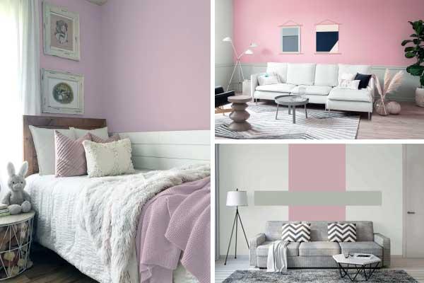 Sherwin-Williams em tons de rosa