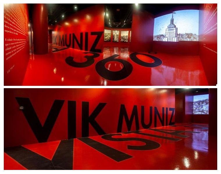 Fernando Brandão na mostra de Vik Muniz