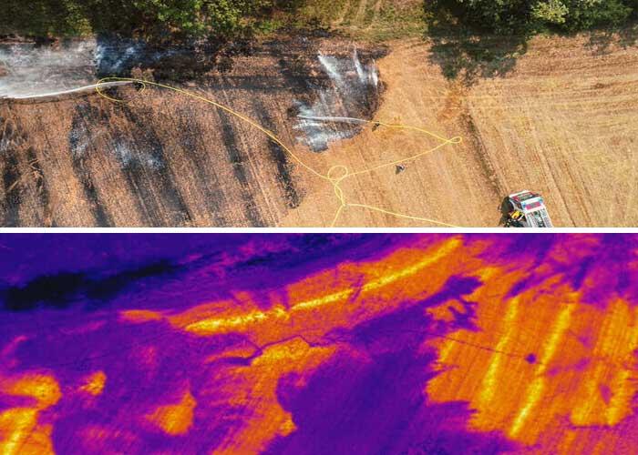 Drones no combate a incêndios florestais
