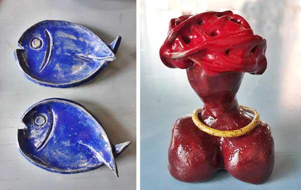 Mostra Cerâmica do projeto Feito à Mão
