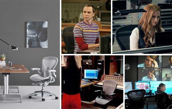Cadeira Aeron em filmes e séries