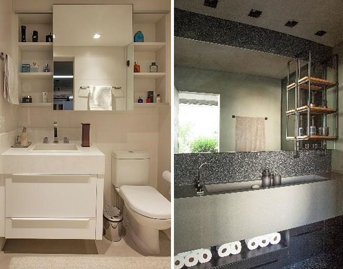 Mobiliário SCA para banheiros pequenos