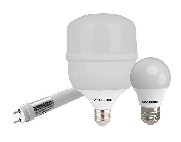 Novos modelos de lâmpadas LED Soprano