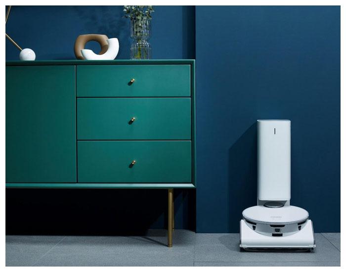 Novos aspirador robô e lavadoras IA Samsung