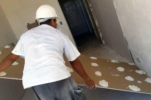 Drywall ajuda a reduzir o calor