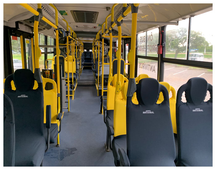 Ônibus equipados com proteção antiviral