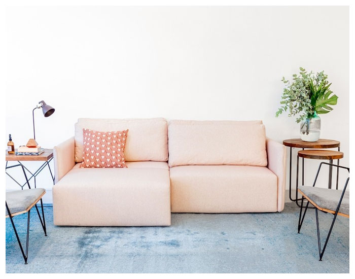 Sofá-cama compacto retrátil e reclinável MUMA