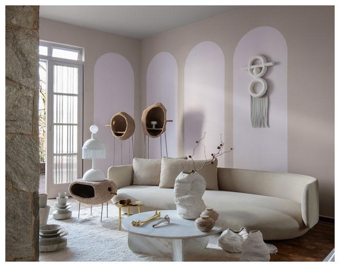 Paredes brancas criam ambientes relaxantes