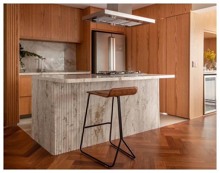 Mont Blanc Mármores na cozinha moderna