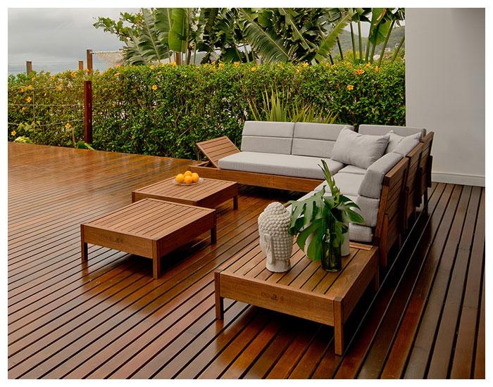 Mitte Design Möbel na área externa