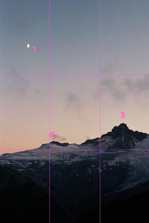 Example 3 - Moonrise Over Mount Rainier