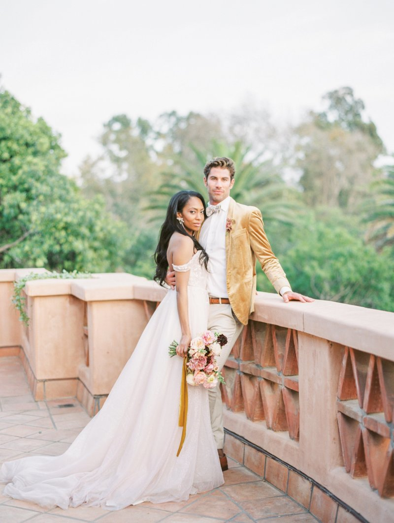 Bride and groom portrait by Kendra Cates shot on film.