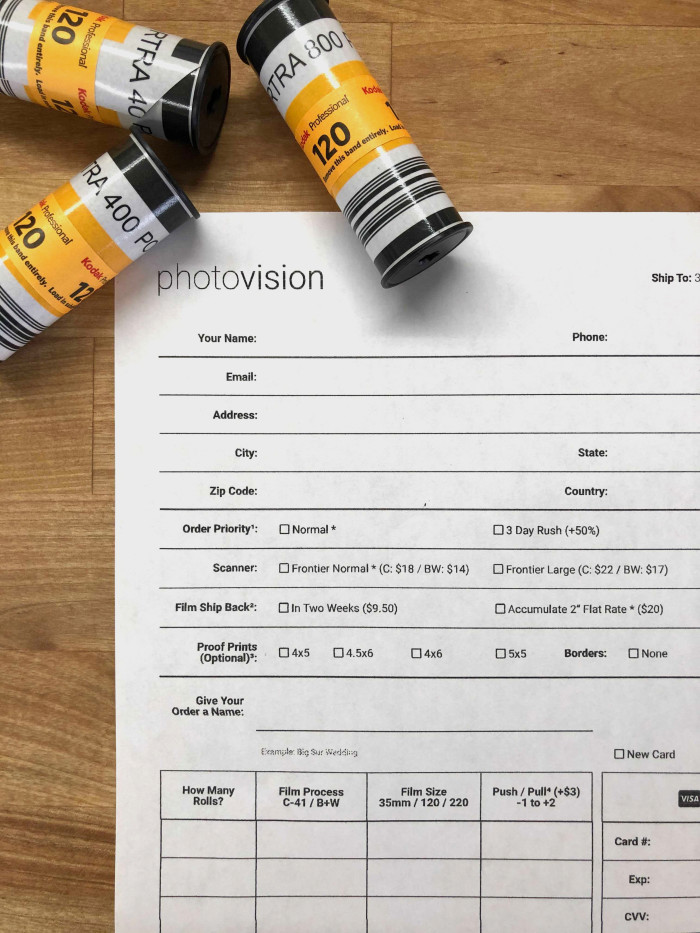 How to Fill out Your Order Form