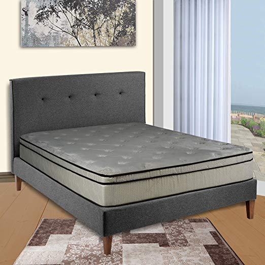 An image related to Continental Sleep 450-6/6-Kal-1 Firm Euro Top California King-Size VertiCoil Innerspring Unit 11-Inch Mattress