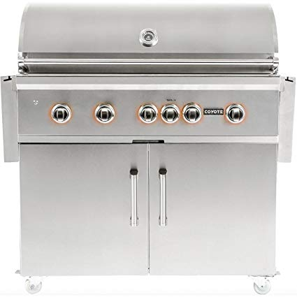 An image related to Coyote S-Series 42'' Propane Gas Stainless Steel Freestanding Rotisserie Grill