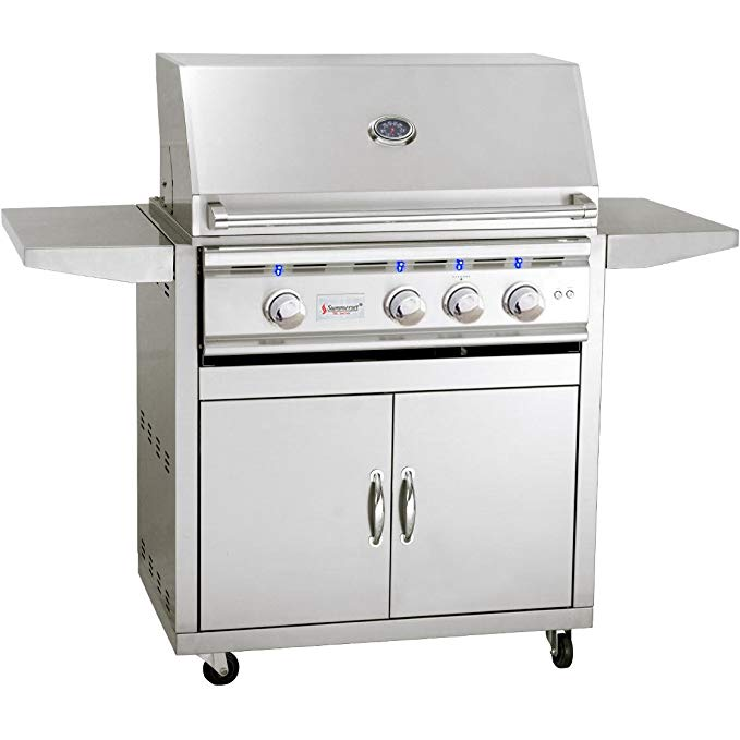 """An image related to Summerset TRL Series 32"""" Propane Gas Stainless Steel Freestanding Rotisserie Grill"""