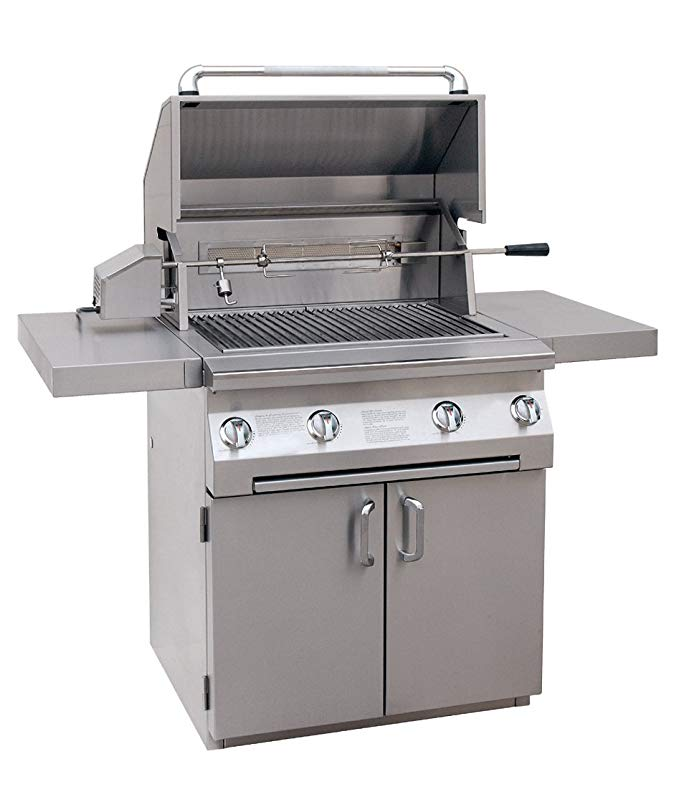 An image related to Solaire SOL-AGBQ-30CIR-NG 30'' Natural Gas Stainless Steel Rotisserie Grill