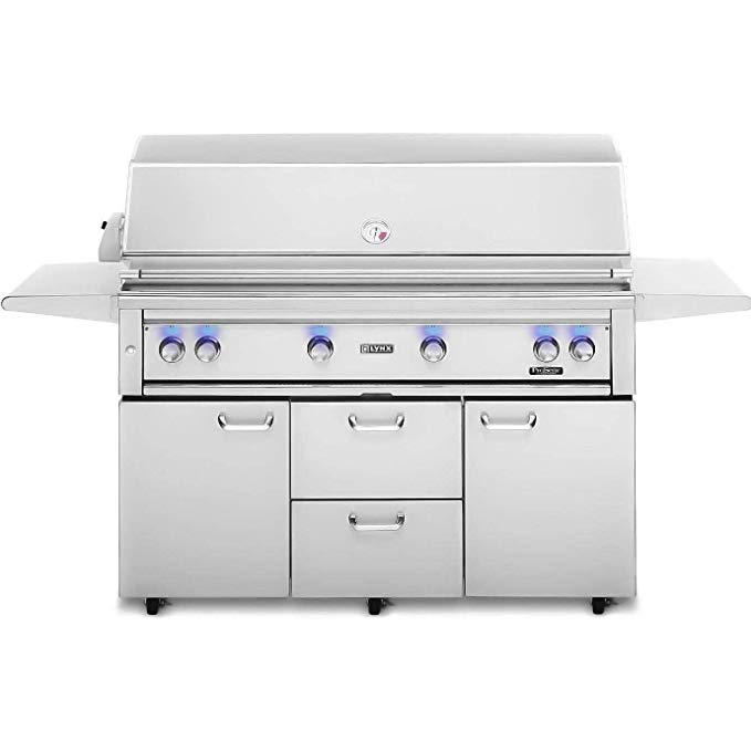 An image related to Lynx L54PSFR-2-LP 54'' Propane Gas Stainless Steel Rotisserie Grill