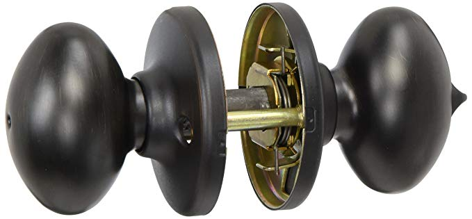 An image of Kwikset 300AO-11P Privacy Venetian Bronze Door Lock | Door Lock Guide