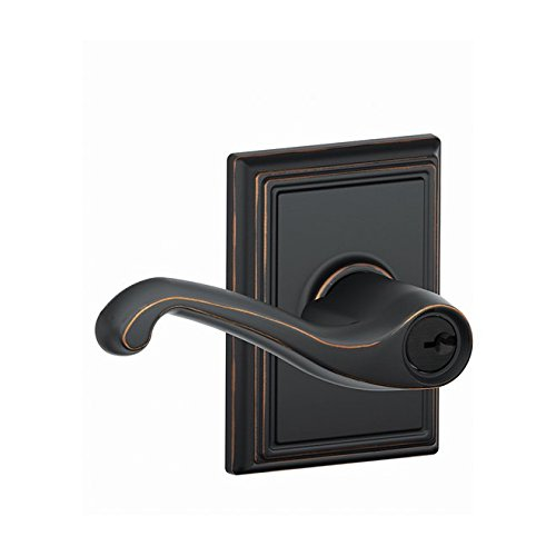 An image related to Schlage F51AFLA716ADD Entry Bronze Lock