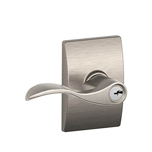 An image related to Schlage F51AACC619CEN Entry Satin Nickel Lock