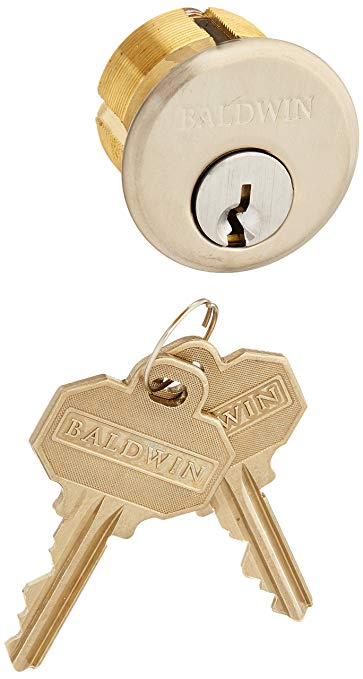 An image of Baldwin 8321056 Satin Nickel Lock | Door Lock Guide