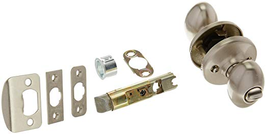 An image of Kwikset 400AO-15S Entry Satin Nickel Lock