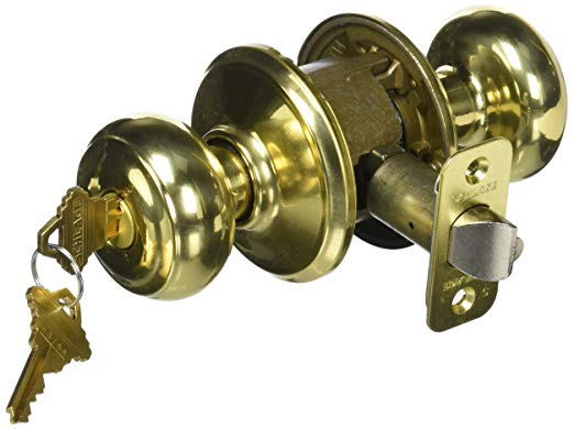 An image of Schlage 043156399598 Entry Polished Brass Lock