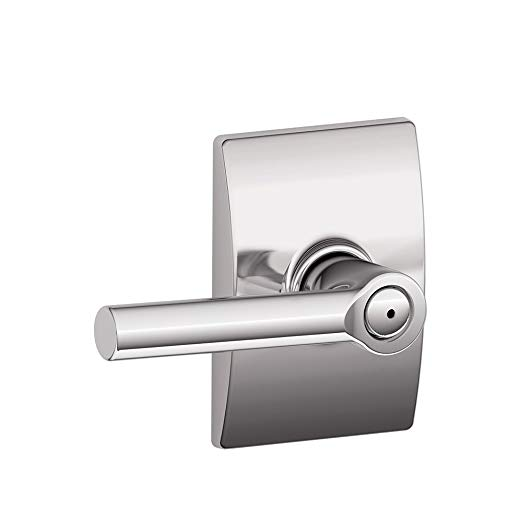 An image related to Schlage F40 BRW 625 CEN Bathroom Chrome Effect Lever Lockset Lock