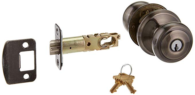 An image of Schlage F51AAND620 Entry Pewter Lock