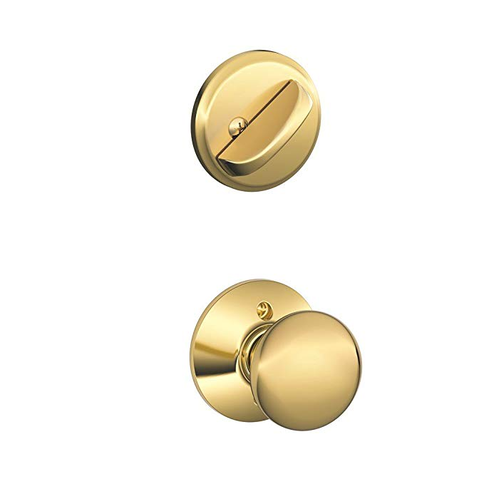 An image related to Schlage F59 PLY 605 Brass Lock