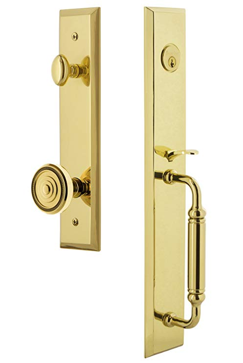 An image related to Grandeur 842802 Brass Lever Lockset Lock