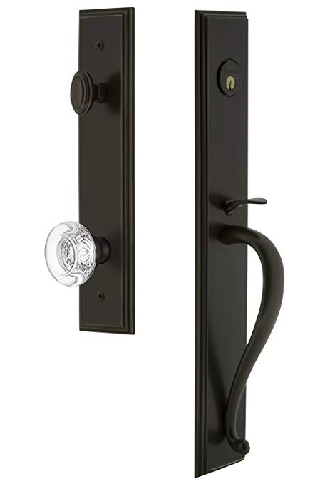An image related to Grandeur 844726 Bronze Lever Lockset Door Lock