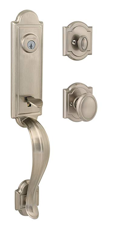 An image of Baldwin 91800-009 Brass Satin Nickel Lock