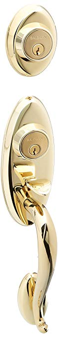 An image of Baldwin 853450032ENT Polished Brass Lock