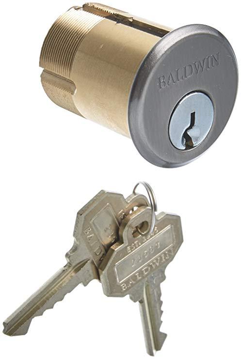 An image of Baldwin 8326151 Brass Nickel Lock | Door Lock Guide