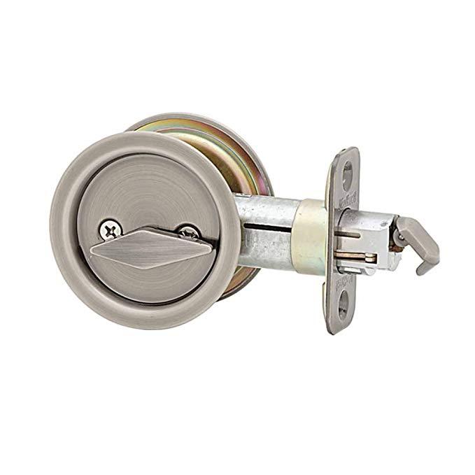 An image of Kwikset 93350-005 Privacy Nickel Lock | Door Lock Guide