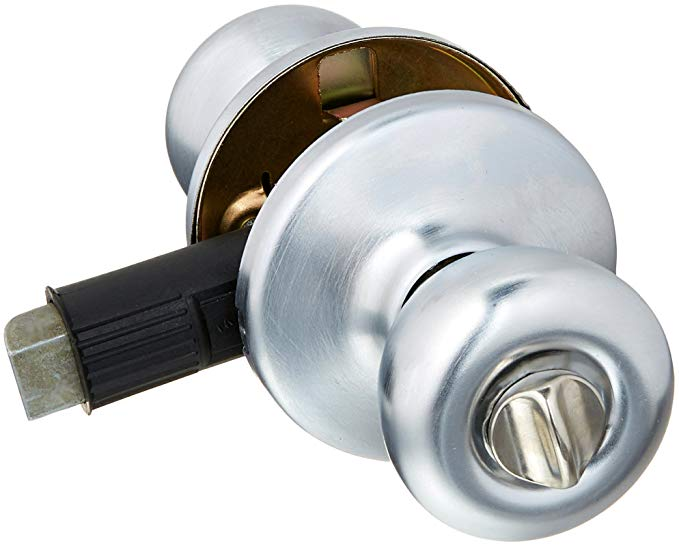 An image related to Kwikset 93001-877 Privacy Satin Chrome Lock