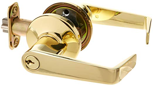 An image related to Kwikset 756KNL-3 Polished Brass Lever Lockset Lock