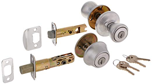 An image of Kwikset 96900-339 Entry Satin Chrome Lock