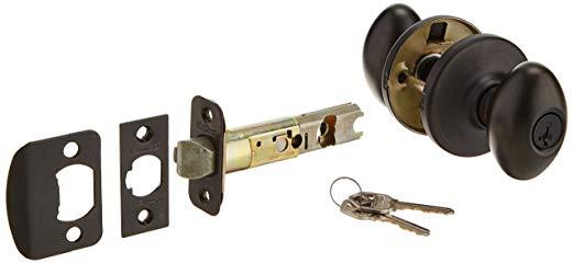 An image of Kwikset 400AO-11PS Entry Venetian Bronze Lock | Door Lock Guide