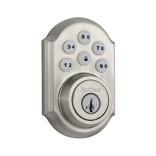 An image of Kwikset 99090-018 Stainless Steel Satin Nickel Lock