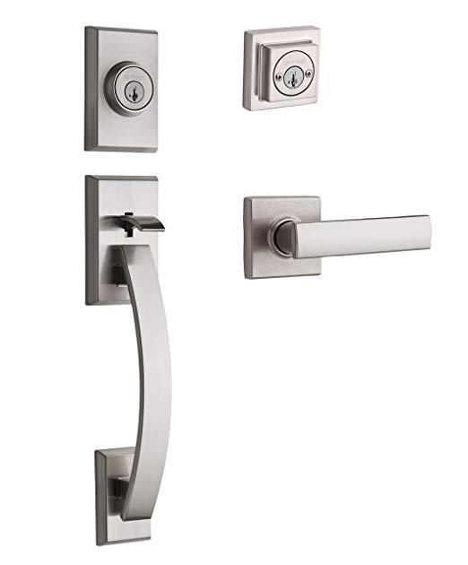 An image of Kwikset 98010-213 Satin Nickel Lever Lockset Lock | Door Lock Guide