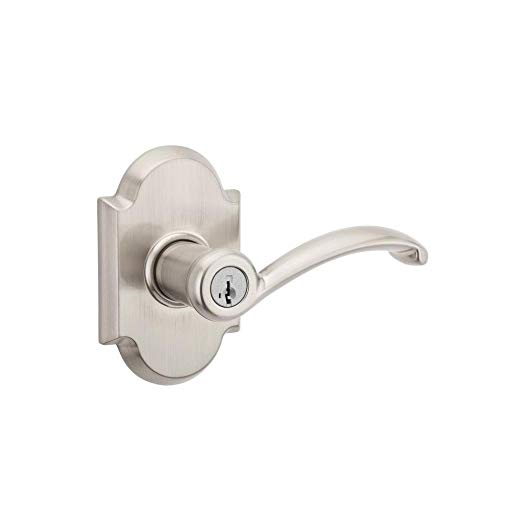 An image related to Kwikset 97402-713 Entry Satin Nickel Lever Lockset Lock
