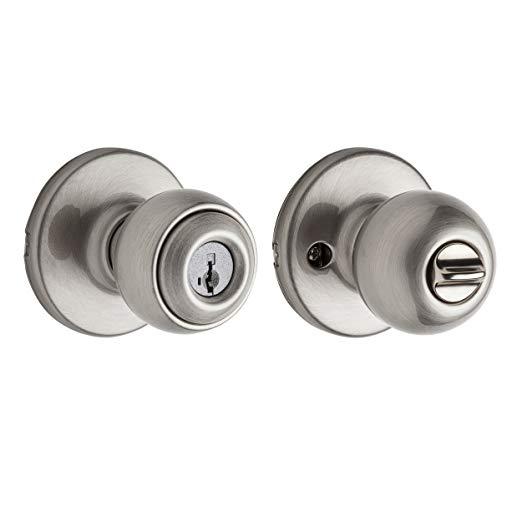 An image of Kwikset 90830-226 Entry Satin Nickel Lever Lockset Lock