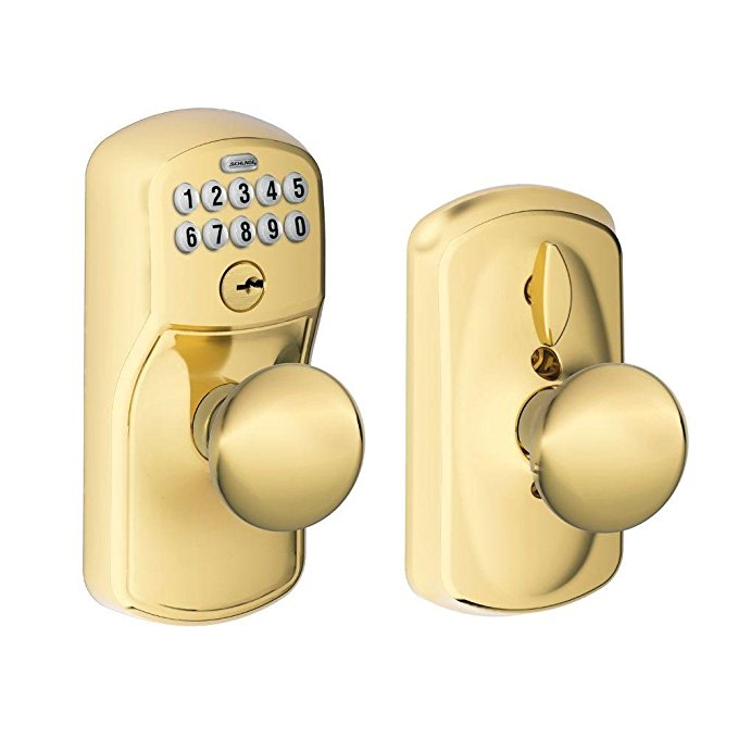 An image related to Schlage FE595 PLY 505 PLY Entry Brass Lock