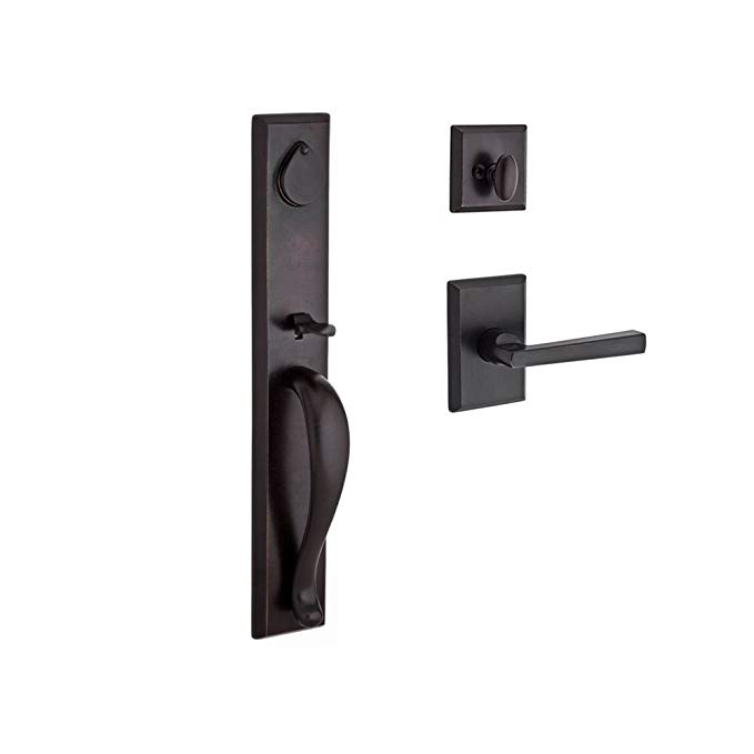 An image related to Baldwin 9BR1800-044 Brass Dark Bronze Lever Lockset Lock